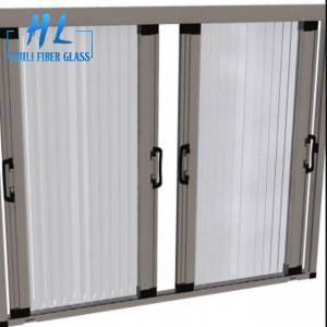Plisse mosquito net,pleated mesh folding screen door