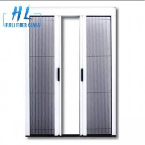 Polyester pleated mesh folding mosquito fly insect magnetic control detachable screen door