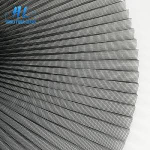 15mm 2.5mx 30m Grey Polyester Pleated Screen Mesh