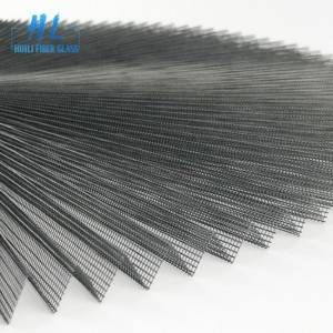 16mm 2.2m x 30m Grey Polyester Pleated Mesh