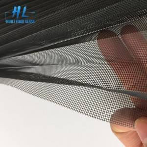 15mm 3m x 30m Black Polyester Pleated Mesh