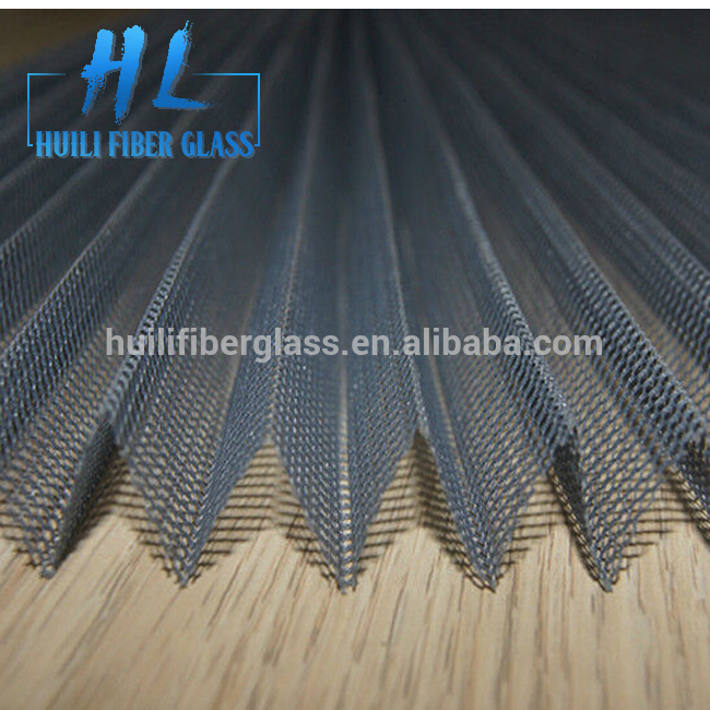 Polyester Pleated insect protection window screen with fiberglass pleated netting Featured Image
