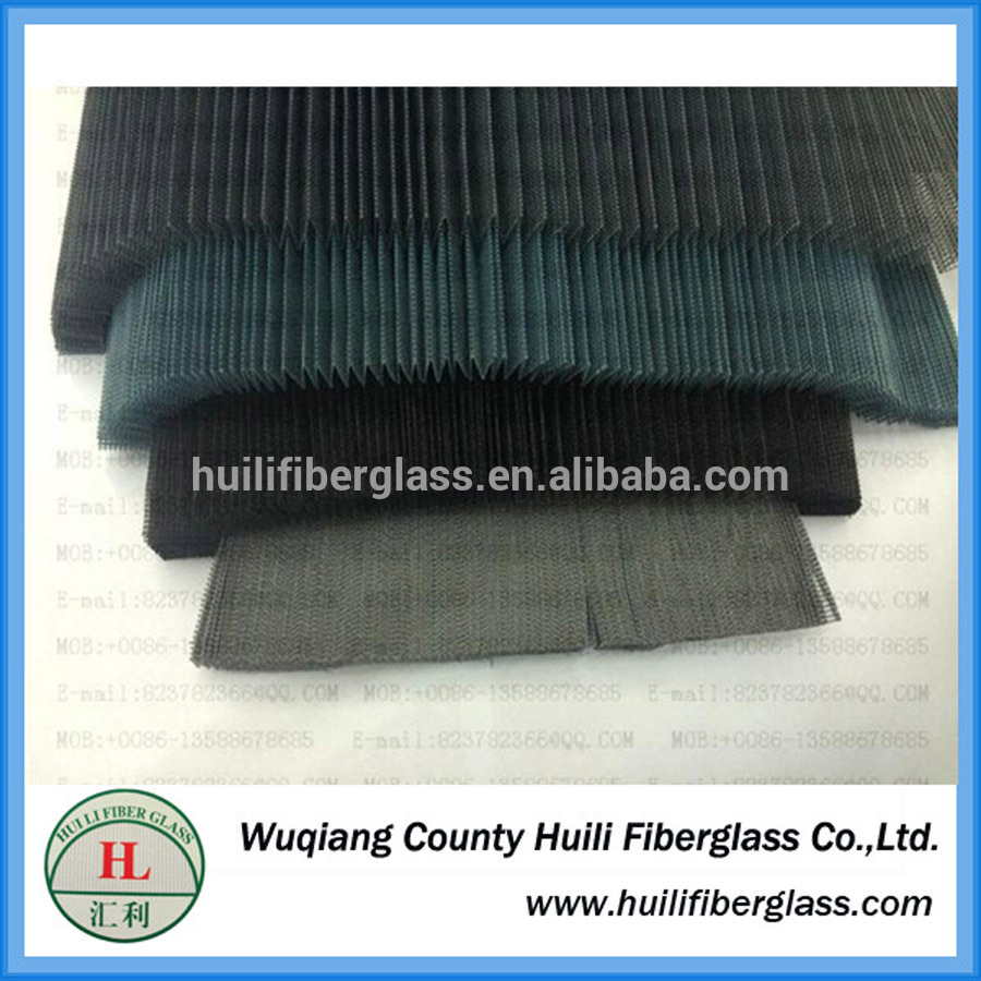 Polyester Pleated insect protection window screen with fiberglass pleated netting