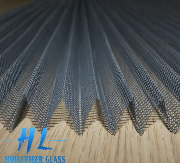 Professional factory supply polyester pleated screen plisse insect screen Featured Image