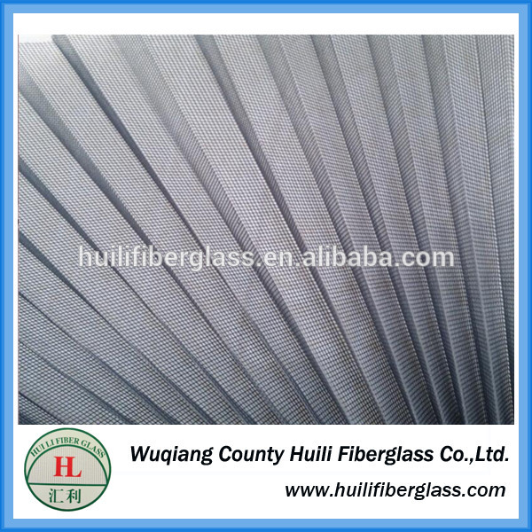 professional manufacturer black color fiberglass pleated/plisse/folding window screen/net