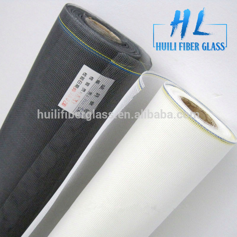 PVC coat plain weave fiberglass window screen from hebei factory