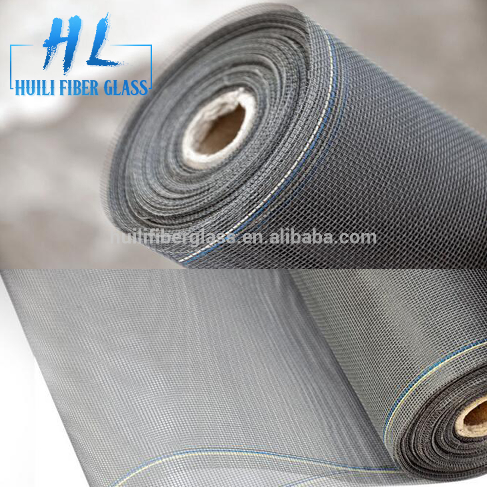 PVC coat plain weave fiberglass window screen from hebei huili factory with different weight Featured Image