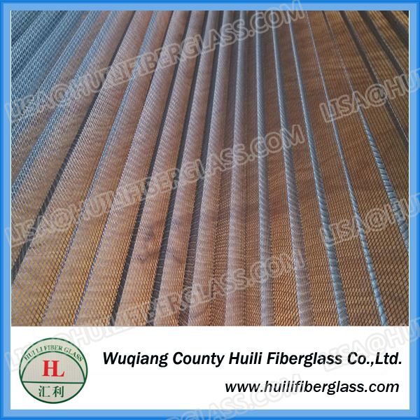 Top Quality Gray Color Fiberglass Plisse Insect Screen. Pleated Window Screen, Folding Insect Mesh