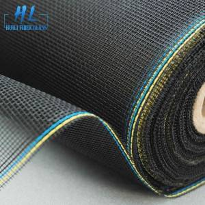 18*16 Black PVC Coated Fiberglass Fly Screen Mesh