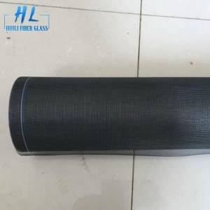 Black 20×20 Mesh Fiberglass Insect Screen Roll