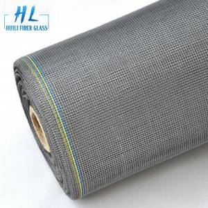 Black 18*16 Mesh PVC Coated Fiberglass Window Screen