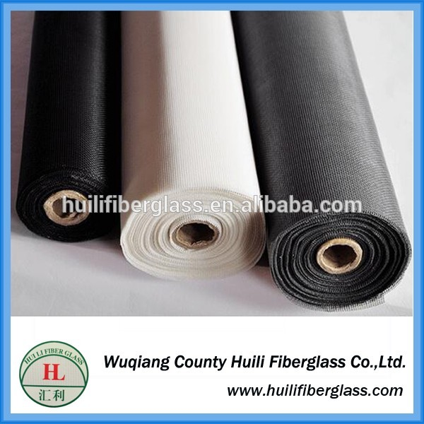 Wuqiang 110g/m2 18×16 mesh plain weave fiberglass door insect screen