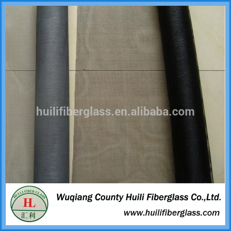 Wuqing huili factory PVC Coated Fiberglass Plain Weaving Insect Screen