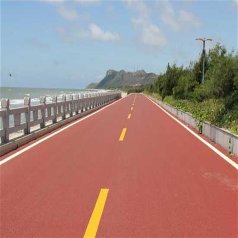 Briefly describe the characteristics of colored asphalt materials
