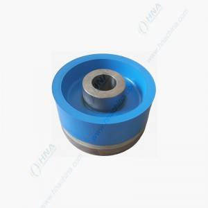 High Temperature High Pressure Bonded Piston with Dual Duro Polyurethane – FLex Lip Dual Blue