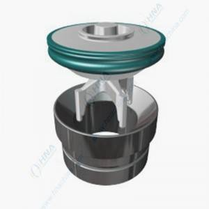 Bottom Guide Valve Body, for Plunger/Frac Pump — One-Piece Forged with Bonded Polyurethane — BFB Valve