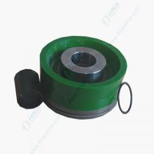 High Pressure Bonded Piston with Dual Duro Polyurethane  – FLex Lip Dual Green