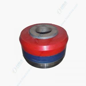 Slip Seal Low Friction High Temperature High Pressure Bonded Piston with Dual Duro Polyurethane – Slip Seal Dual Red