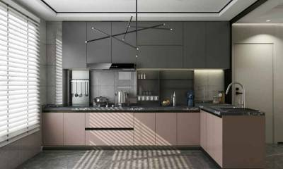 Kitchen Counter Decor Ideas in Black and Custom Kitchen Cabinet