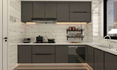 Matte Black Kitchen Cabinets | Custom Kitchen Cabinet