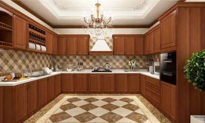 Luxury Antique Kitchen Cabinets | U-shaped Kitchen Design