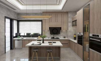 U-shaped Kitchen with Island | Factory Direct Kitchen Cabinets