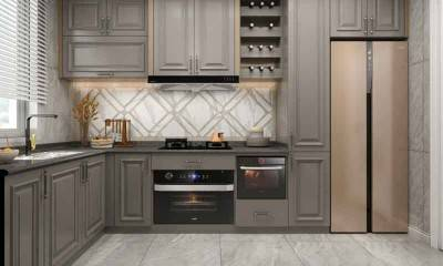 L-shaped Kitchen Design | Luxury Kitchen Cabinet Maker