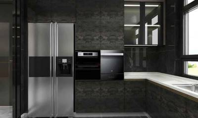 Black and Grey Kitchen Cabinets | Kitchen Design Ideas