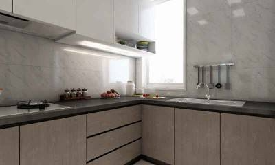 Corner Kitchen Cabinet in 3D Kitchen Design