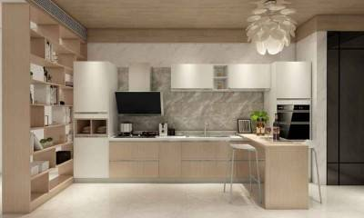 L-shaped Kitchen Layout with Island | Custom Cabinet Maker