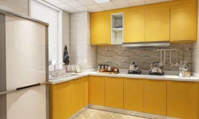 Yellow Kitchen Cabinet | Custom Cabinets