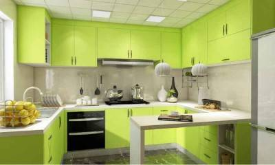 Kitchen Design Ideas 100ft² and Custom Kitchen Cabinet in Yellow