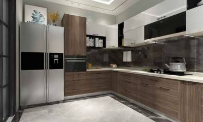 Modern Kitchen Cabinets Custom in Grey and White 149ft²