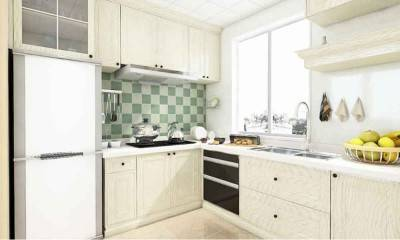 Modern White Kitchen Cabinets for Small Kitchen 6.2m²/67ft²