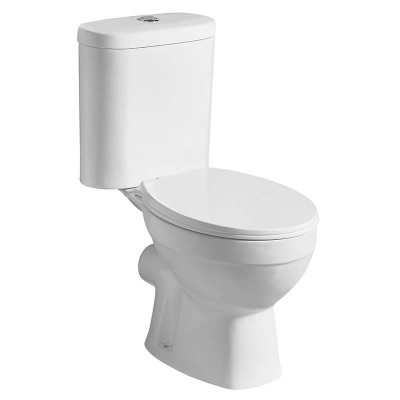 Two-piece Rear Discharge Power Dual Flush Bathroom Toilet for Sale
