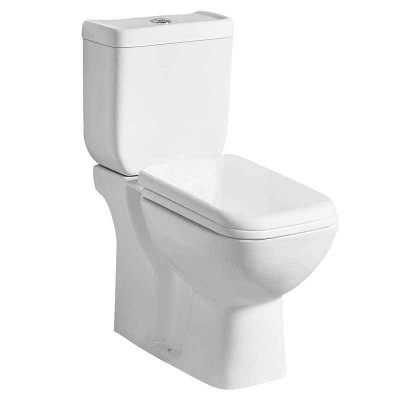 Two-piece Power Dual Flush Restroom Toilet for Sale (P-trap or S-trap)