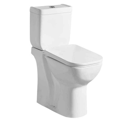 Heightened Tall Two-piece Power Dual Flush Bathroom Toilets (P-trap or S-trap)