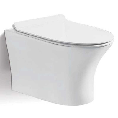 Water-saving Wash-down Dual Flush Wall-mounted Toilet (Space-saving Wall Hung Toilet)