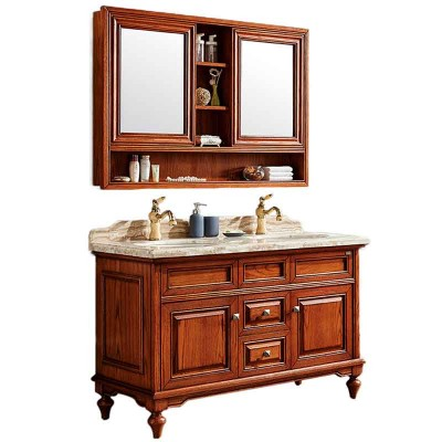 52-inch Bathroom Double Sink Vanity Cabinet with Dual Mirrors