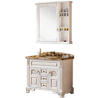 40-inch Custom Bathroom Vanities, White Bathroom Cabinets with Top
