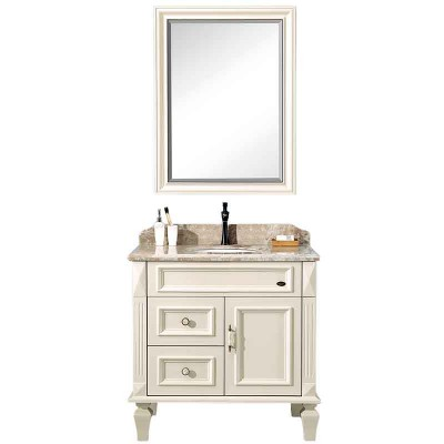 36-inch Bathroom Vanities and Cabinets with Framed Bathroom Mirror
