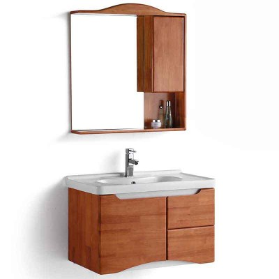 Wall Mounted Bathroom Sink Cabinet with Mirror and Tops 32-inch