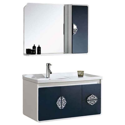 Wall Hung Vanity with Basin, 36-inch Wall Mounted Bath Cabinet