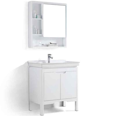 Modern Bathroom Vanities 32-inch, Wooden Bathroom Sink and Cabinet
