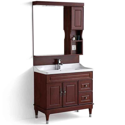 Wood Bathroom Vanity 36-inch, Free Standing Bathroom Cabinet