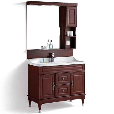 Bath Vanity Cabinet 40-inch, Bathroom Vanity with Mirror and Light
