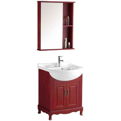 Modern Small Bathroom Cabinet, 26-inch Bathroom Sink and Vanity