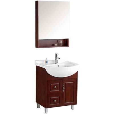 Wooden Small Bathroom Vanities with Mirror and Vanity Tops 26-inch
