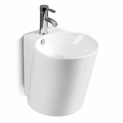 Wall Hung Basin Chinaware, Round Wall Mount Sink