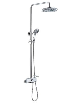 Exposed Shower Mixer with Ceiling Shower Head